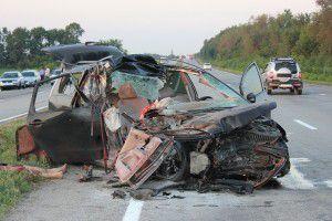 Фото с места жуткой аварии под Запорожьем