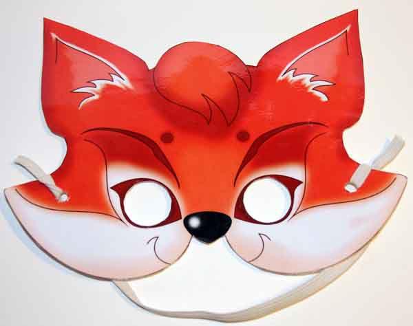 Как сделать новогоднюю маску лисы