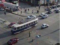 Возле «Украины» фура сбила пешехода (Видео)
