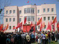 В Запорожье разгромили главный офис коммунистов