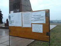 Запорожцы с костром и палаткой собирают подписи за Ленина (ФОТО)