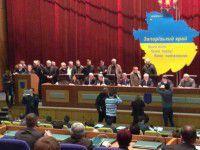 Запорожские активисты прогнали губернатора из обладминистрации