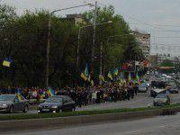 Запорожские студенты вышли на марш мира (ВИДЕО)