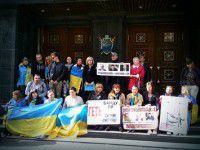 Запорожские активисты встретили Александра Сина в Киеве криками «Ганьба!»