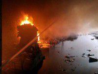 Под Запорожье горел завод подсолнечного масла