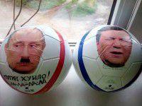 Запорожские солдаты будут пинать головы Путина и Януковича (ФОТО)