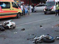 На запорожской трассе cтолкнулись два мотоцикла — есть пострадавшие