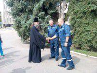ФОТОФАКТ: Спасателям подарили иконы, которые будут их хранить в Славянске