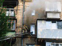 В центре Запорожья вспыхнул дом (ФОТО)