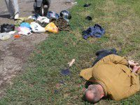Обнародовано  видео с места задержания сепаратистов со взрывчаткой