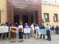 На митинге под прокуратурой задержали двоих провокаторов