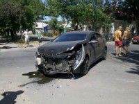 В Бердянске на заговоренном участке произошло второе ДТП за неделю (ФОТО)