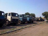 Из Запорожья в зону АТО после 20-летнего отпуска отправили первые КАМАЗы