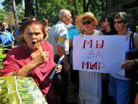 Проплаченный митинг под запорожским военкоматом организовала помощница нардепа Повалий — СМИ