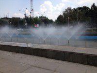 ФОТОФАКТ: к приезду министра возле ОГА заработал фонтан