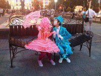 Обновленный бульвар Шевченко: лавочка примирения,светящиеся мимы и патриотичные фонтаны