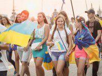 В Запорожье состоялся марш патриотов  (Фоторепортаж)