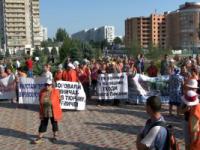 В Энергодаре бунт коммунальщиков привел к смене власти (Видео)