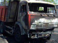 В Бердянском порту сгорел грузовик