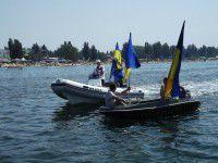 В курортном городе Майдан с площади переместился в море