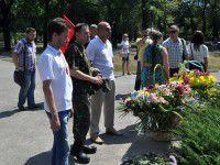 В День независимости запорожцы почтили память погибших в зоне АТО