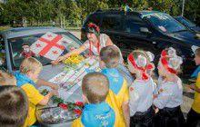 В Запорожье состоялась патриотичная акция «Автоледи»