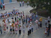 Фотофакт: детсадовцы создали живой герб Украины