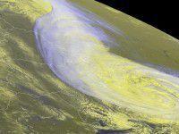 Как выглядит непогода в Запорожье из космоса