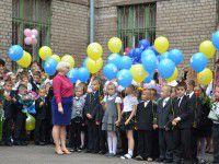 1 сентября в Запорожье: первокласники с оселедцями и желто-синие шары (Фото)
