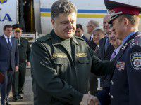 Фотофакт: Петр Порошенко вступил на запорожскую землю