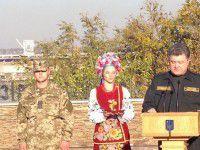 Фотофакт: Президент  отмечает первый день защитника Украины в Запорожье