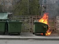 Пожар в мусорном баке чуть не унес жизнь мужчины