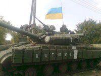 Фотофакт: В зоне АТО появился танк «Катюша», названный в честь волонтера