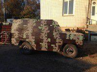Фотофакт: Запорожские патриоты готовят в зону АТО автомобиль-«невидимку»