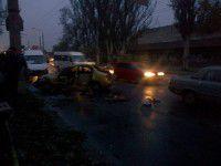 Авария возле кинотеатра «Космос» стала причиной большой пробки (Фото)