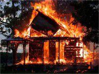 В запорожском селе заживо сгорел мужчина