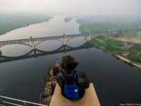 Запорожские мосты с высоты 200 метров глазами руфера (Фото)