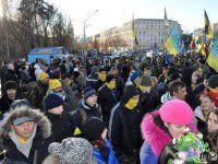 Самооборона Майдана из Запорожья почтила память Небесной сотни в столице