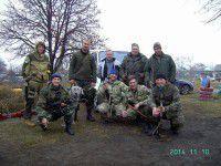 Запорожские бойцы ищут для собаки новый дом
