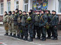 В Запорожье на ротацию прибыли солдаты из Нацгвардии (Фото)