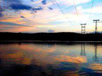 Утреннее фото: Воды осеннего Днепра в разное время суток