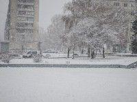 Первый снег в Запорожье: перебои с транспортом и  ДТП