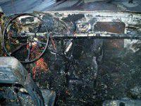 В одном из дворов Мелитополя сгорела маршрутка