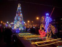 Праздничная иллюминация на бульваре Шевченко обошлась в 300 тысяч (Фото)