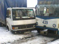 Фотофакт: В Запорожье вай-фай трамвай попал в ДТП
