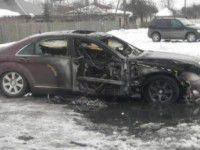 В Мелитополе взорвался автомобиль с водителем