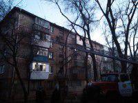 В Запорожье жильцов пятиэтажки эвакуировал по пожарной лестницы