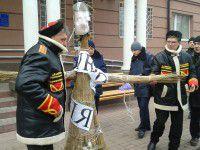 В Запорожской области под судом митинговали стороники Януковича