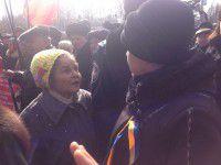 Запорожская активистка подала в милицию заявление после антивоенного митинга