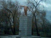 Запорожское село украшает Ленин без головы